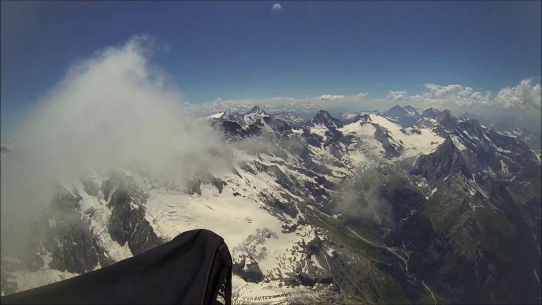 Vol en parapente au sommet du Jungfrau avec François (Suisse)