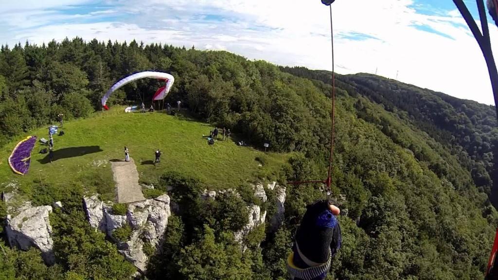 Vol site parapente Mont Poupet (39)