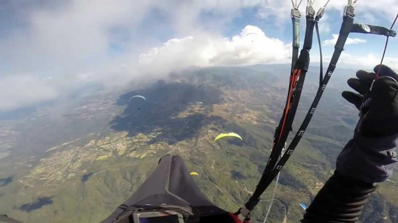 Vol sur le site parapente El Peñon (Mexique)