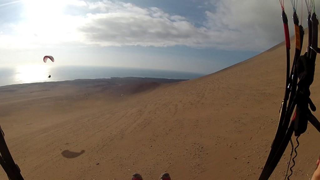 Vol sur le site parapente Palo Buque (Chili)