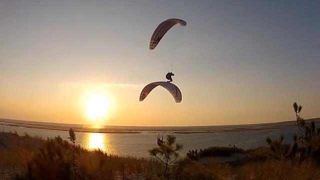 Vols synchro à la dune du Pyla avec Yann et Mathieu