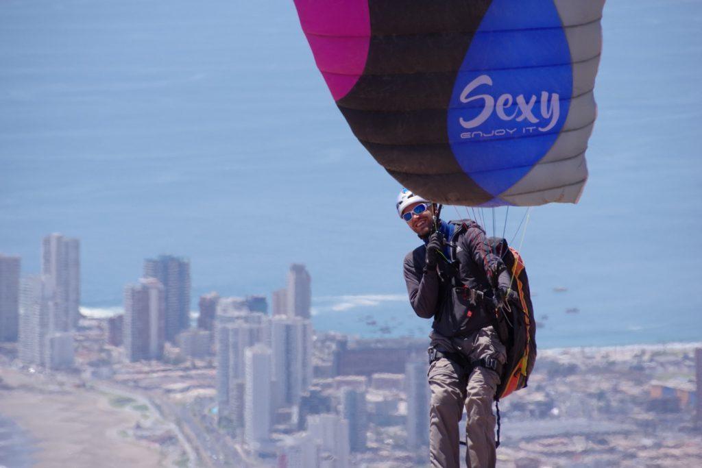 La WAY GLIDERS Sexy 18m² testée par Eric Varlet à Iquique (Chili)